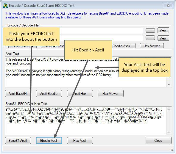 Displaying EBCDIC Values