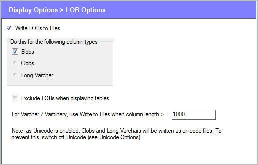 Options - LOB Options